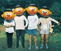 The Metman Fan Club aka The Chicks from Holland as Ernie from Sesame Street. Obviously on day release...