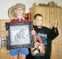 Tony and Philipp from Gütersloh - Complete with Manowar goodies. Are they anything like Steps?