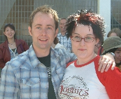Jo on the pull with Billy Boyd @ Collectormania 3 in Milton Keynes (UK)