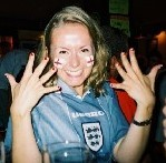 Jennifer - World Cup 2002. I wonder which team she was supporting?